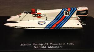 Spark 1:43 Martini Racing F1 Powerboat 1984 Renato Molinari SP2303 Resin Model