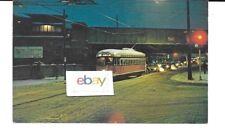Philadelphia Septa 2795 Transit Street Car At Germantown Snowy Night Postcard