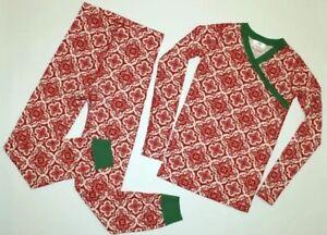 HANNA ANDERSSON Pajamas Set Christmas Holiday Organic Cotton Size 3T GUC