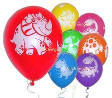 DINOSAUR LATEX BALLOONS (x 6) Jurassic Dinosaur Balloon Helium party decorations