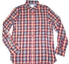 New Vans Mens Canehill Flannel Woven Button Up Cotton Casual Shirt Medium
