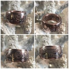 New Top Quality 500 Dollar Bank Note .999 Copper Coin Ring Hand Forged Any Size