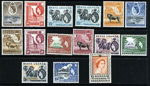 KENYA UGANDA & TANGANYIKA QE II 1954-59 Pictorial Part Set SG 167 to SG 180 MINT