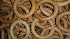 50 Maple Wooden 3 Inch Rings - Beeswax / Olive Oil