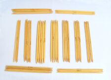 1 set of 5 bamboo double point knitting needles 20cm long ina range of sizes