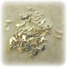 50 SMALL Silver Plated Aanraku Bails Glue on Pendant / TIle Bails