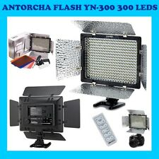 ANTORCHA YONGNUO YN-300 300 LED CANON NIKON OLYMPUS FLASH CAMARA FOTO VIDEO