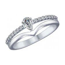 MIRKADA Damen 925 Sterling Silber Ring mit SWAROVSKI-Zirkonia Gr. 52 * NEU *