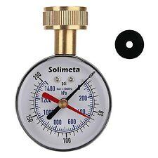 """2-1 / 2 """"Water Pressure Gauge, Garden Hose Pressure Gauge, House Water Pressure"""