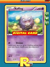 4x Koffing (Division) - for Pokemon TCG Online (DIGITAL ptcgo in Game Card)