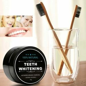Charcoal Teeth Tooth Whitening Powder Natural Organic Toothpaste Toothbrush Oral