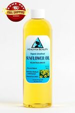 SUNFLOWER OIL UNREFINED ORGANIC CARRIER COLD PRESSED VIRGIN RAW PURE 12 OZ