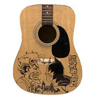 Fender Squire Acoustic Guitar With Hand Drawn Batman Black Knight Graphic for sale