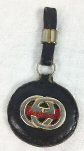 Vintage 70s Gucci Bag Charm Key Fob Dangle GG