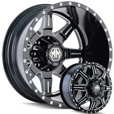 Mayhem Monstir Dually Wheels with 35x12.50-20 Tires Ford Dodge Ram GMC and Chevy