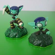 Skylanders Spyro's Adventures Characters: STEALTH ELF & SIDEKICK (green base)