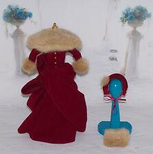 Mattel VICTORIAN ERA Style RED WINTER DRESS w FAUX FUR For BARBIE DOLL