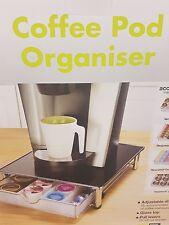SMART DESIGN NUOVO impilabile Caffè Pod & capsula CASSETTO / Organizzatore con Glass Top