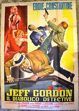 MANIFESTO ORIGINALE JEFF GORDON DIABOLICO DETECTIVE 63 COSTANTINE
