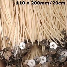 5 cm Pré Waxed mèches pour bougies Making avec chassé. 20 Pcs x 50 mm