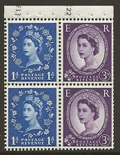 SB50 Wilding booklet pane Crown Left Cyl F13K22 perf type I UNMOUNTED MNT/MNH