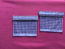 "2 purple gingham  dolls house blinds 3.5"" x 3"""