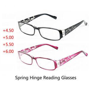 Plastic Reading Glasses Black/Red Frame / Gold Metal  Frame 4.50 5.00 5.50 6.00