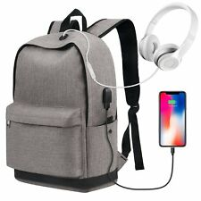 NEW Backpack with USB charging port UNISEX cool Laptop Water Resistant