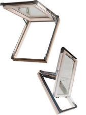 Fenêtre de Toit Bois Basculante 114x118 118x114 + Clignotant Uw = 1,3 W/M ? K