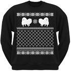 Pomeranian Black Adult Ugly Christmas Sweater Crew Neck Sweatshirt