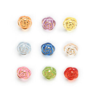 50pcs Shank Acrylic Buttons Rose Sewing Scrapbooking Gift Handwork Decor 11mm
