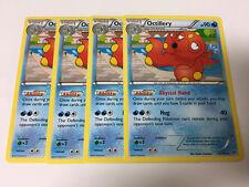 Pokemon TCG: 4 x OCTILLERY 33/162 Battle Arena Decks:Rayquaza vs.Keldeo Non-Foil