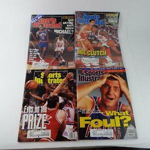 Sports Illustrated Magazine 1980/90s NBA Basketball Detroit Pistons Lot Of 4