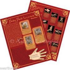 SPIRITUAL MUDRAS CHART Wicca Witch Pagan Goth Reiki Yoga Meditation HEALING HAND