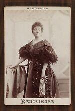 Marie Legault, Actrice Théatre Comédie-Française, Photo Cabinet card, Reutlinger