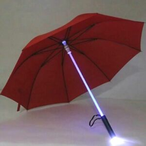 Umbrella With LED Torch Safety Warning Lights Outdoor Umbrellas for Kids Adults