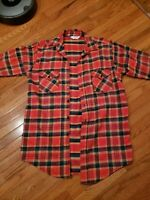 VTG 60s Frostproof Cotton Logger sanforized Flannel Plaid Check Shirt Made USA