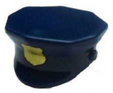LEGO - Minifig, Headgear Hat, Police w/ Printed Gold Badge - Dark Blue