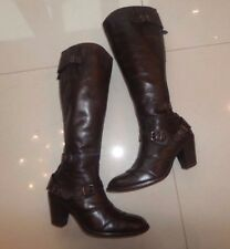 LUXURY Belstaff Trialmaster KNEE HIGH HEEL REAL LEATHER WINTER BROWN BOOTS 4 .