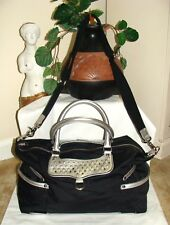 Rebecca Minkoff Black Nylon & Leather Studded Diaper Bag With Changing Pad!