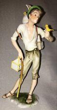 Vintage A.K. Kaiser W Germany Porcelain Figurine Birdseller Color Bisque 387