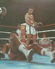 MUHAMMAD ALI DOWNS GEORGE FOREMAN 8X10 PHOTO BOXING PICTURE COLOR