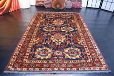 nr E2878 Handgeknüpfter ORIGINAL Afghan Teppich Kazak Wolle ca176 x 120 cm
