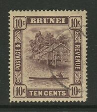 More details for brunei 1937 10c purple/ yellow sg 73 fine used.