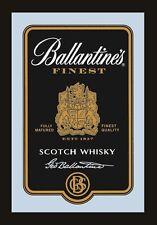 Ballantines Logo black Nostalgie Barspiegel Spiegel Bar Mirror 22 x 32 cm