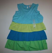 NEW Hanna Andersson Girls Pretty Tiered Ruffle Colorblock Dress 120 6X 7 8 Year
