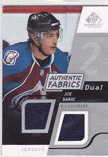 2008 08-09 SP Game Used Dual Authentic Fabrics #AFSK Joe Sakic jersey Avalanche