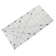 30x15cm Quilting Sewing Patchwork Foot Aligned Ruler Grid Tailor Craft Scale DIY
