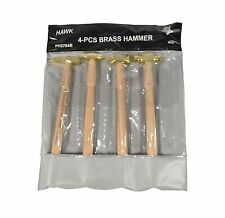 Hawk PH2704B 4 Piece Assorted 1oz Brass Head Jewelers Hammers For Jewelry Making