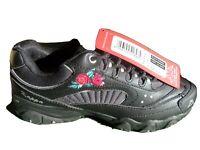 Kappa Felicity Romance Black rose trainers BNWT size 5 38 242678 1111 rare